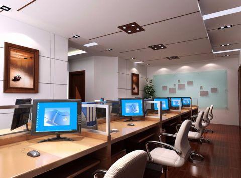 万都办公楼中式工装装修效果图