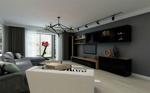 天鸿美域110平米北欧风格三居室装修效果图