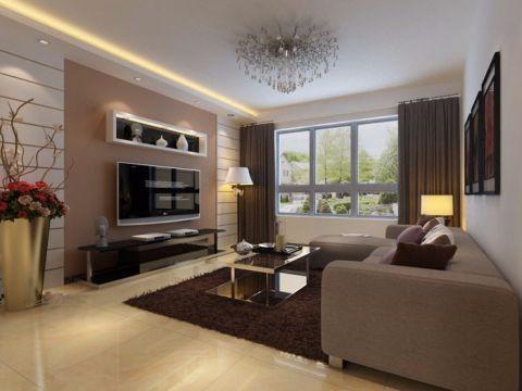 天津北岸尚城94平米现代风格平层装修效果图