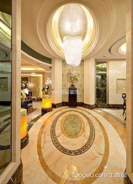 玄关黄色门厅混搭风格装潢图片