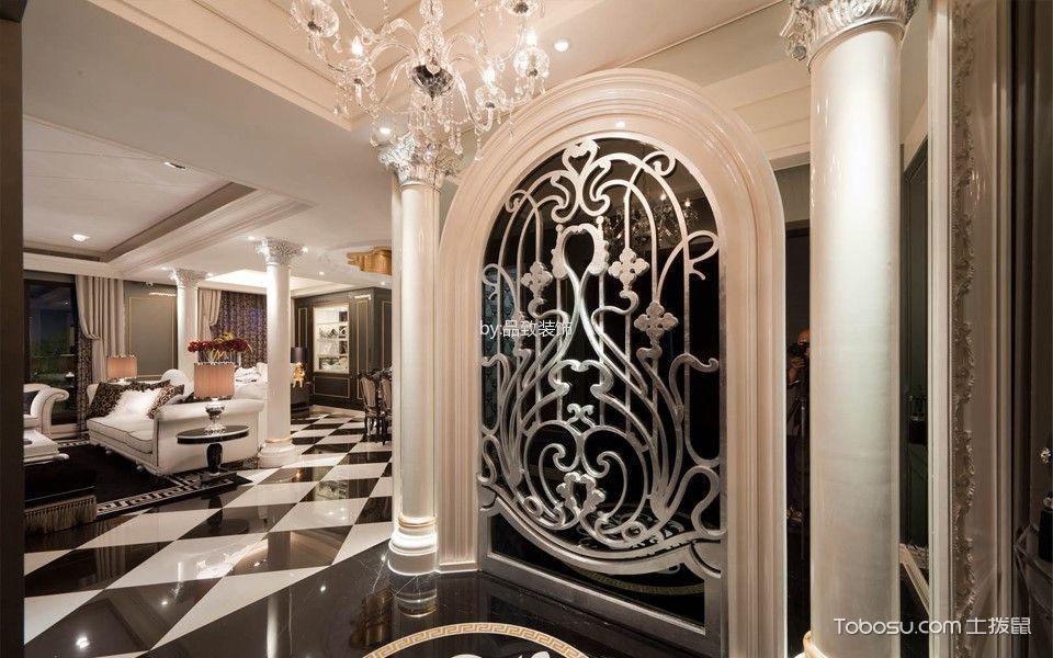 玄关白色门厅现代风格装饰设计图片