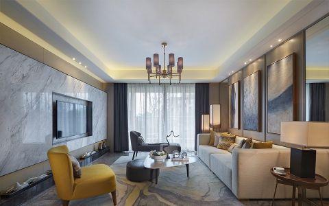 100平三居室新中式风格效果图
