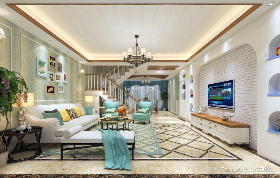 承翰半山海北120平米欧式风格四居室装修效果图
