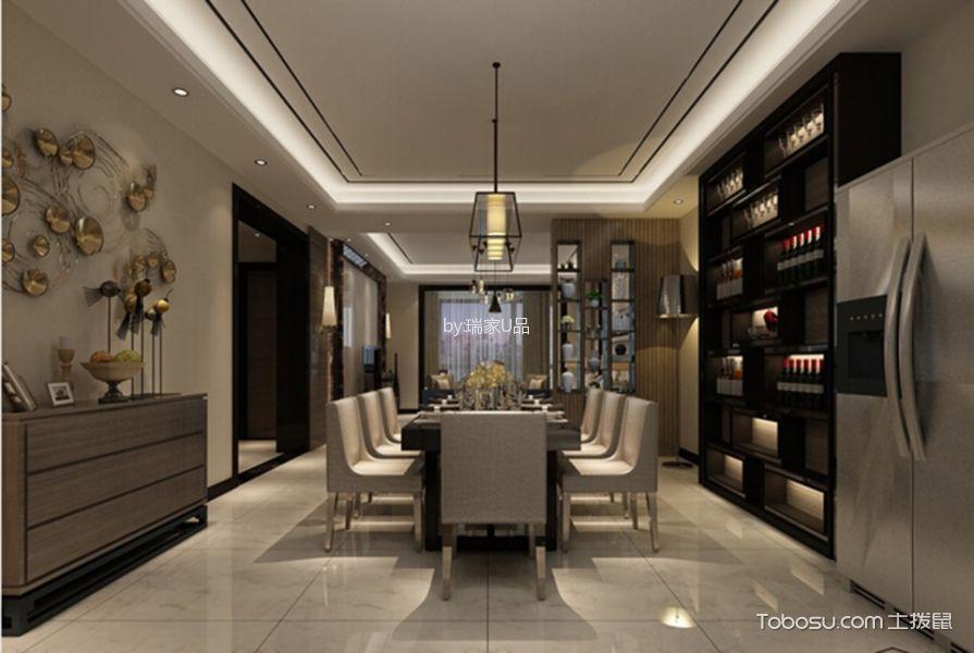 依水丽都110平米现代风格三居室装修效果图