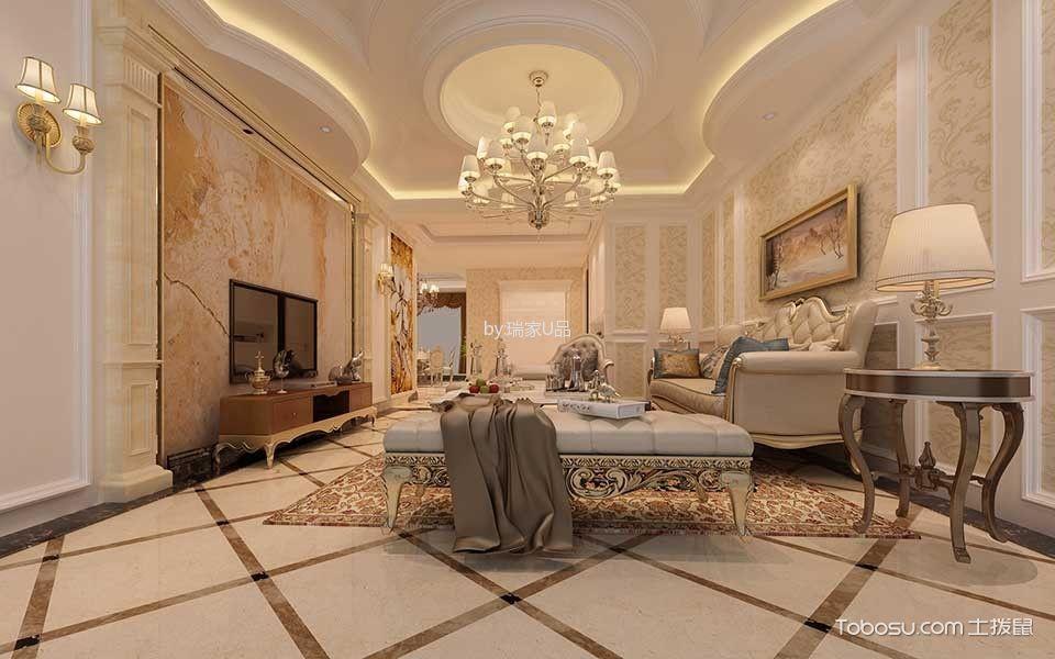 中天花园复式住宅优雅别致欧式风格装修案例