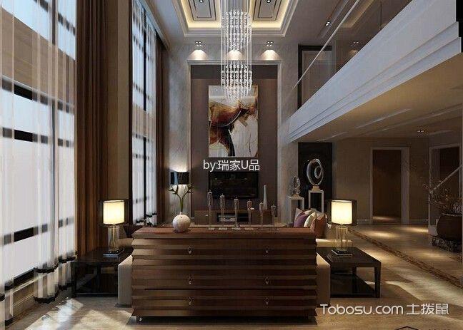 中铁国际城复式楼现代简约风格装修案例