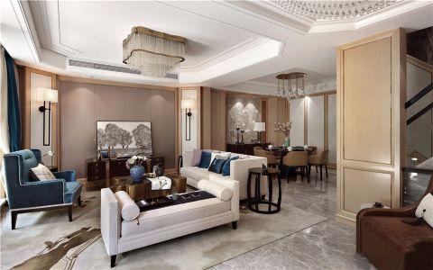 万科九龙山280平米新中式风格四居室装修效果图