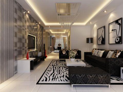 10万预算160平米四室两厅装修效果图