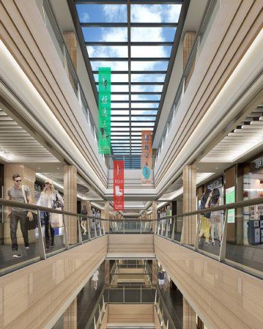 龙华商场现代风格工装装修效果图