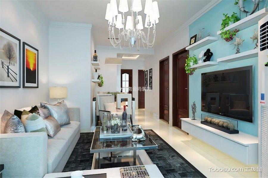 宏瑞星城91平米现代简约风格两居室装修效果图