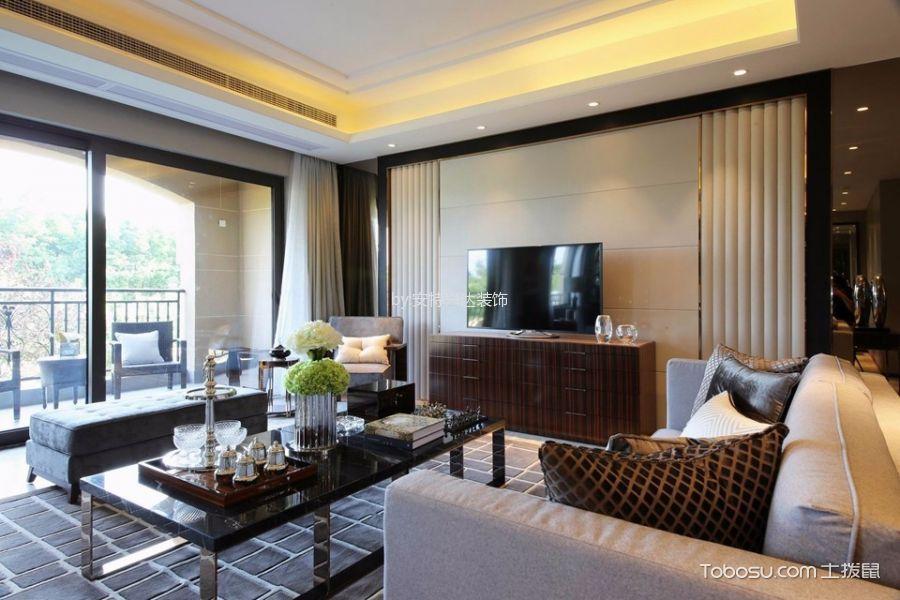 富力津门湖160平米现代风格三居室装修效果图