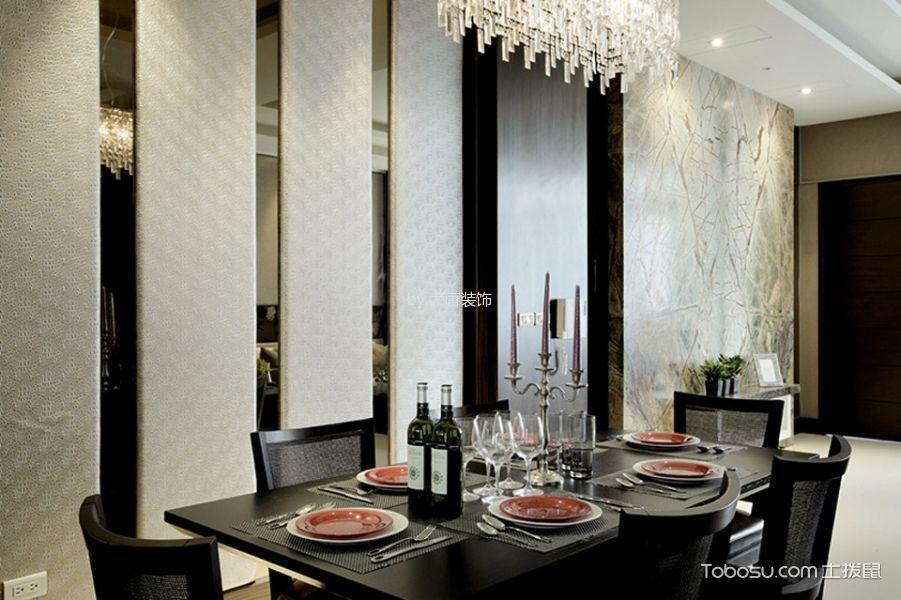 世界花园小区120平米新中式风格三居室装修效果图