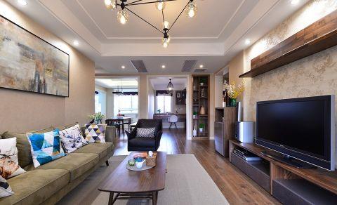 复地悦城117平米三室两厅现代简约风格装修效果图