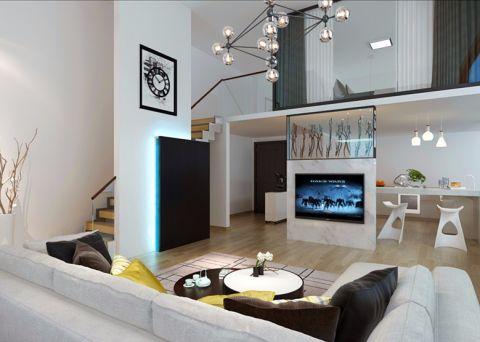 兆翔海天韵60平米现代简约风格一居室装修效果图