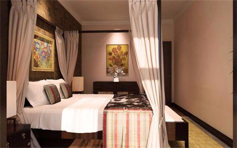 天津懿德园105平米东南亚风格二居室装修效果图