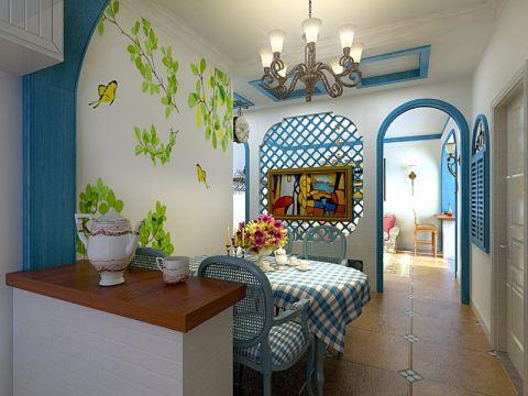 浅水湾110平米地中海风格三居室装修效果图