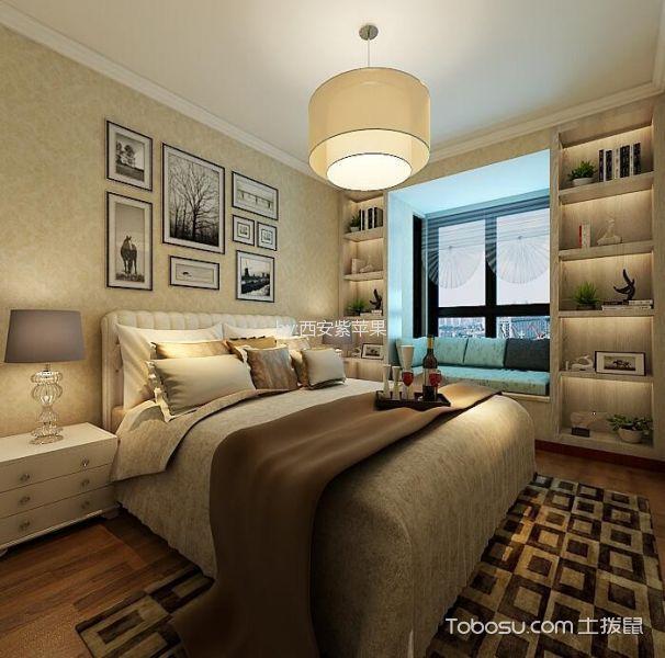 卧室黄色照片墙现代简约风格装修效果图
