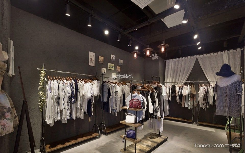 广州天河区loft风格服装店工装装潢图片欣赏