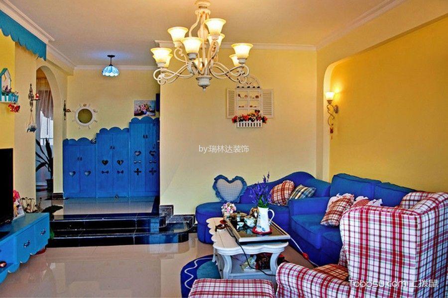 地中海客厅背景墙效果图图片
