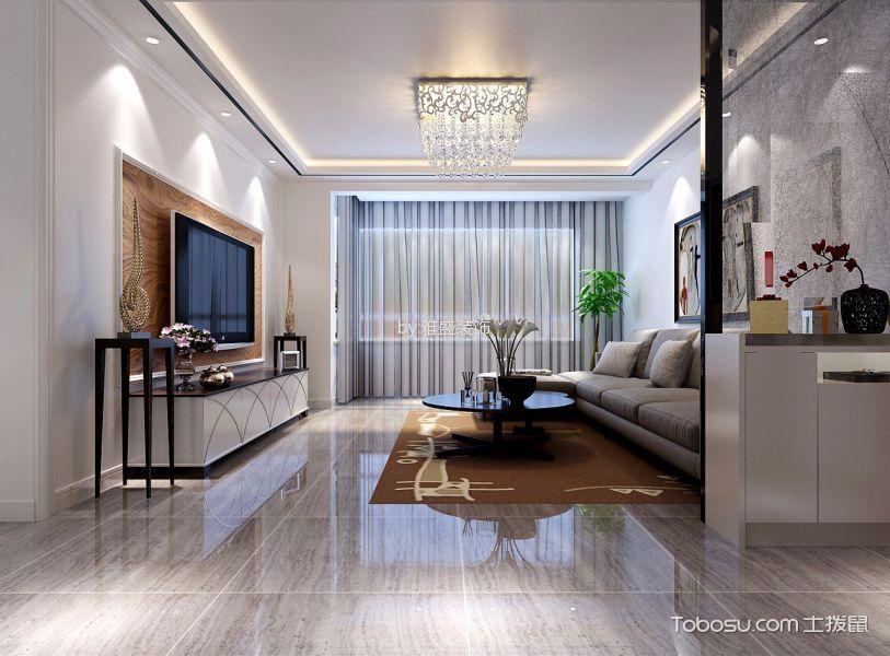 瀚唐小区三室白色简约风格装修效果图