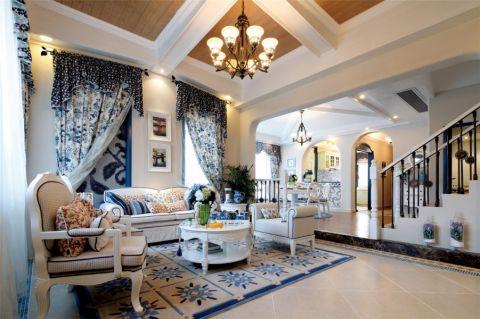 地中海风格159平米三室两厅室内装修效果图