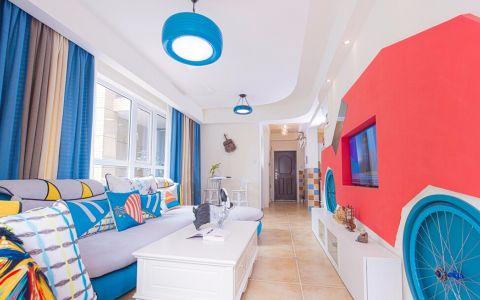 2019地中海80平米设计图片 2019地中海二居室装修设计