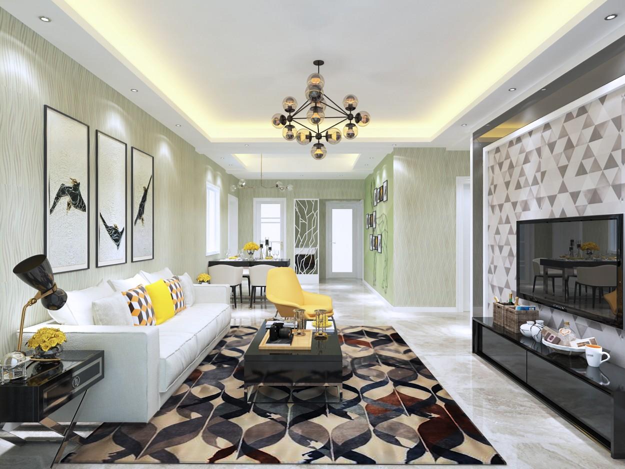 3室2卫2厅118平米简约风格