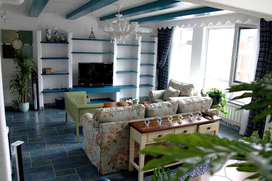 3室1卫2厅120平米地中海风格