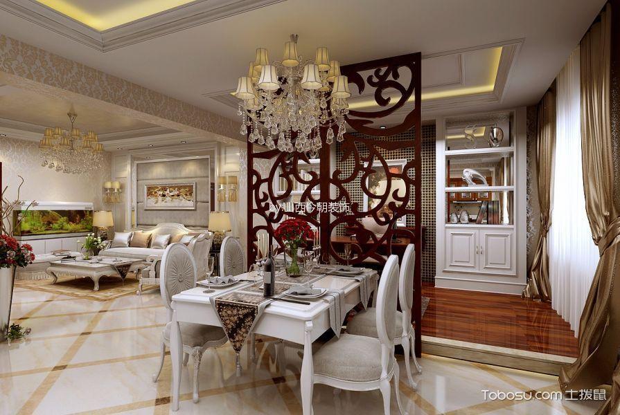 国信嘉园200平欧式古典设计装饰图