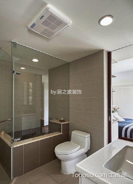 卫生间白色吊顶现代简约风格装修图片