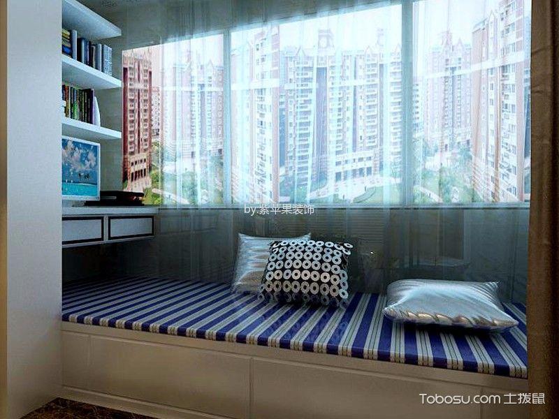 阳台白色榻榻米现代简约风格装修设计图片