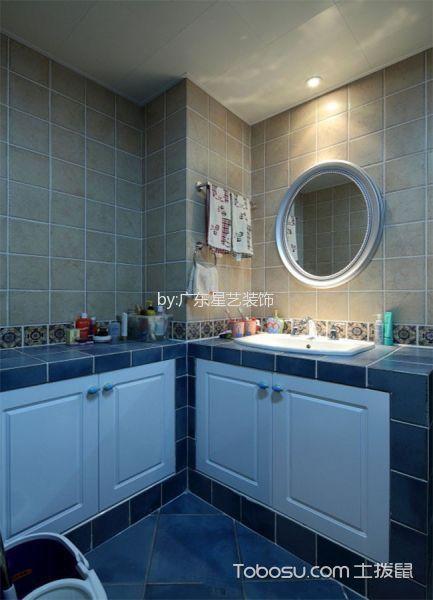 卫生间黄色吧台美式风格装饰设计图片