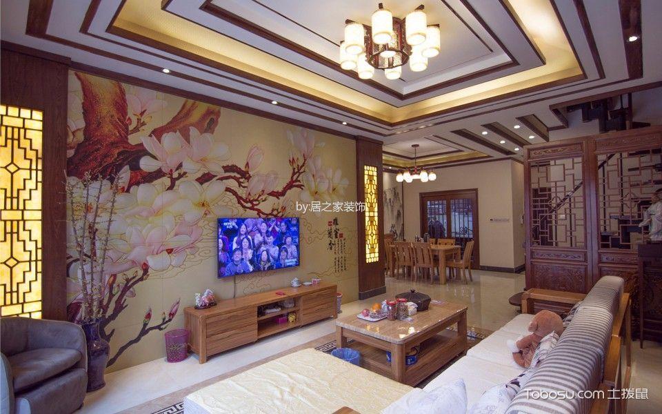 居之家装饰保利别墅新中式风格