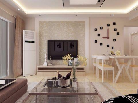 2018现代简约90平米效果图 2018现代简约二居室装修设计