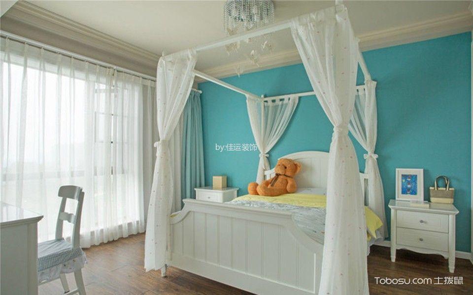 儿童房白色窗帘新中式风格装饰效果图