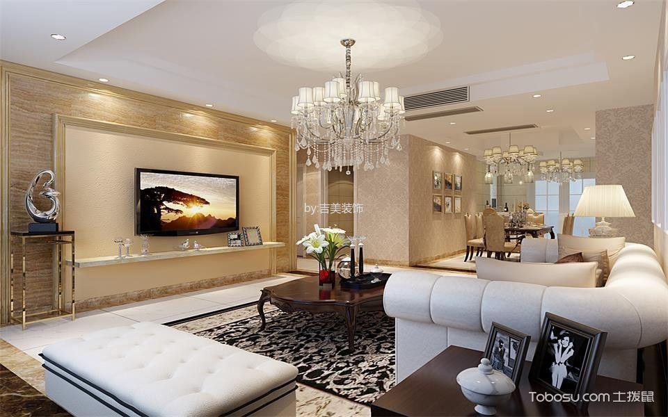 象屿珑庭4房2厅2卫现代简欧风格装修效果图