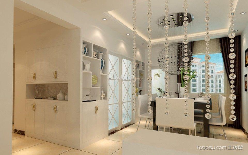 餐厅咖啡色窗帘现代风格效果图