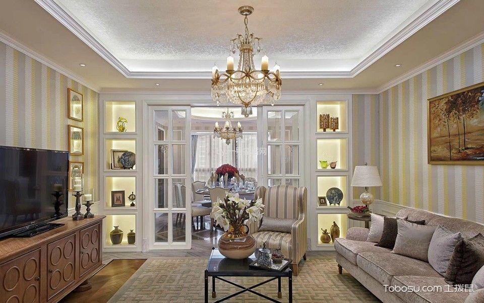 2019法式90平米装饰设计 2019法式三居室装修设计图片