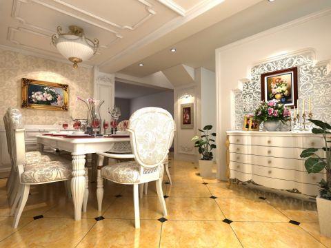 餐厅简欧风格装潢设计图片