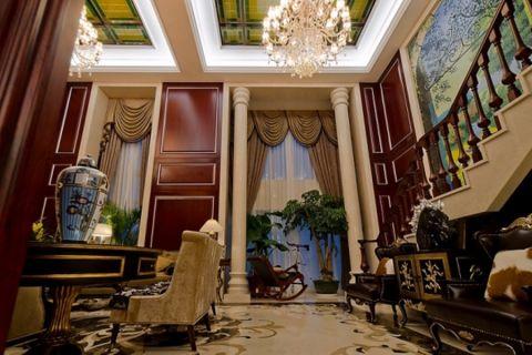 客厅阁楼古典风格效果图