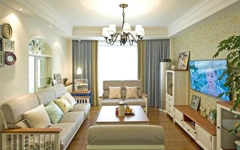 芜湖左岸2居室田园风格装修案例效果图