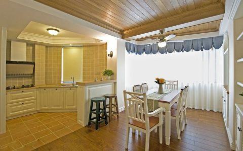 餐厅窗帘地中海风格效果图