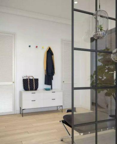 玄关背景墙简约风格装修设计图片