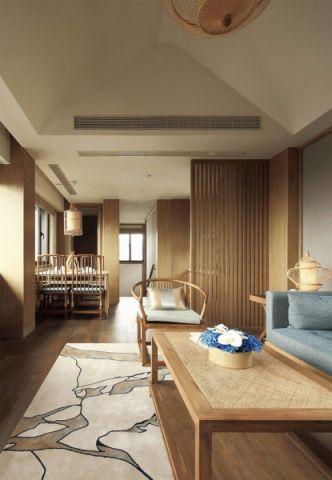 客厅背景墙日式风格装潢图片
