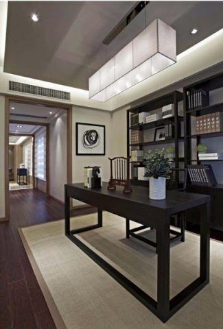 书房吊顶中式风格装饰效果图