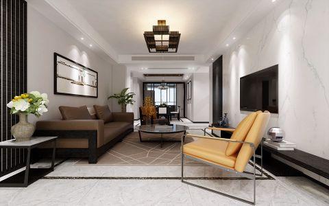 客厅踢脚线咖啡色吊顶装饰实景图片