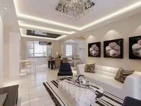 江南御蓝湾-三室两厅-现代简约风格设计效果图