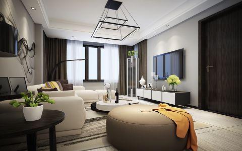 简单大气客厅踢脚线现代简约设计方案