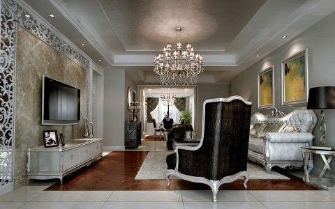 华地紫园三室两厅简欧风格装修效果图
