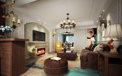 温暖白色客厅踢脚线装饰实景图